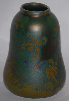Weller Pottery, Sicard line, pear shape with floral decoration