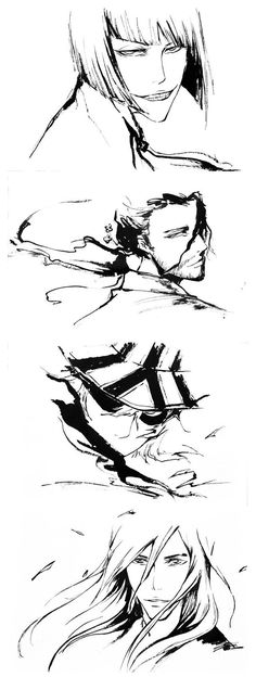 Bleach// Shinji Hirako,Kyoraku Syunsui,Urahara Kisuke and Ukitake Jushiro