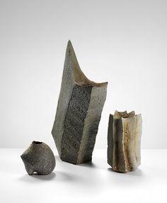 Yasuhisa Kohyama (Japanese: 1936) - Anagama contemporary ceramic vessels
