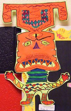 Name Monsters Art Lesson