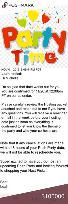Thank you everyone! I had so much fun hosting 😊 I'm so excited to announce I will be co-hosting my 2nd posh party on Saturday, November 26th at 12:00 PT. Tops