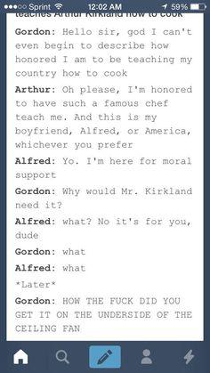 Hetalia Arthur Kirkland can't cook for shiz.
