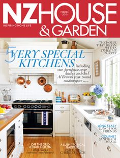 NZ Housen Garden having its March issue 2015 with 5 very Special Kitchens ideas.
