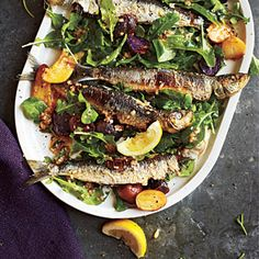 Portuguese Sardine and Potato Salad with Arugula | MyRecipes.com. Fresh sardines are simply sublime here, and relatively inexpensive. If they are too hard to come by, substitute 2 (4.25-ounce) cans of oil-packed sardine fillets.