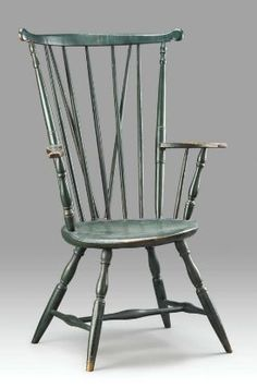 High Fan Back Windsor Armchair About 1745u201354 Boston Area, Massachusetts  Dimensions Overall