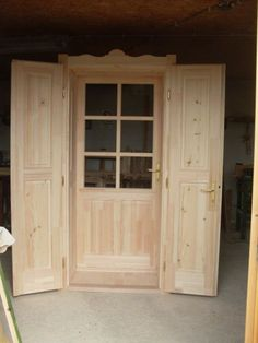 double door Interior Design Boards, Loft Room, Home Board, Window Shutters, House Entrance, Cottage Homes, Wood Doors, Windows And Doors, Home Projects
