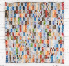 Anthology Art Inspired Batiks Fabric & Kiwi Conserve Pattern Quilt Kit - White