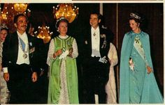 King Hussein of Jordan, his wife, Princess Muna, King Constantine and Queen Anne-Marie of the Hellenes.