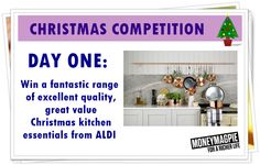 It's day one of our 7 day Christmas competition giveaway!   Today we are giving you the chance to win some fabulous Christmas kitchen essentials from @Aldiuk  The prize bundle will include: Copper pans (X 3), Copper tools, a hamper, tagine, glass kettle and glass toaster.  For your chance to win, enter here