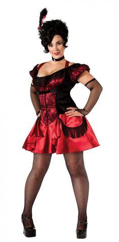 Rubies Plus Saloon Girl Costume Saloon Girl Costume | Clothing