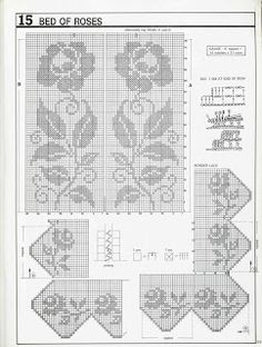 Meu Paraiso: Colcha e manta  Rose Filet Crochet Pattern Graph