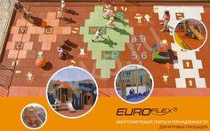 Детские площадки для дачи из резиновой крошки Kraiburg Euroflex