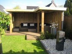 tuinhuis met veranda in een hoek - Google zoeken