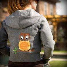 Appliqued Owl Hoodie
