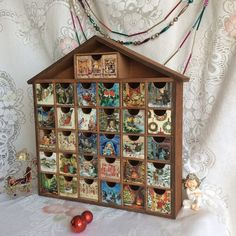 Wooden Christmas #AdventCalendar by DecoupageForUrHome. An heirloom piece to treasure