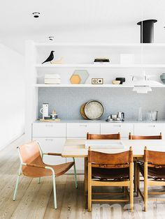 Larch Lye Treated Brushed White Oil timber floors by mafi | Beach House designed by Shareen Joel Design | Photo by Brooke Holm.