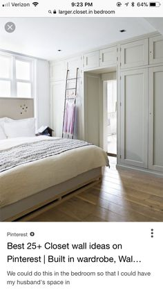 Trendy bedroom closet built ins cupboards Ideas Bedroom Built Ins, Closet Built Ins, Master Bedroom Closet, Bedroom Storage, Home Bedroom, Closet Wall, Bedroom Built In Wardrobe, Closet Doors, Bedroom Ideas