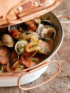 #Portuguese Clams and Sausage in a Cataplana #Recipe