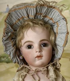 """Bébé Bru époque Chevreau, 1883 photo Jean Dalmard / The last quarter of the 19th century (1875-1899) witnessed the tremendous growth of dolls created in the image of the child. The """"baby"""" dolls & articulated dolls were represented with childlike proportions & mannerisms. This period corresponds to the peak of development of the doll industry in Europe / http://www.museedelapoupeeparis.com"""