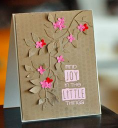Find Joy in the Little Things Card ♥