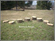 White Cedar Stepping Stumps Playground Backyard by NorthernBoughs, $74.00