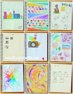 My Sketchbook by Olya Schmidt, via Behance