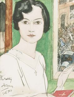 Jan Toorop - Portrait of D. Isna Zaratskij