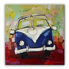 vrolijk schilderij volkswagenbusje Häkelanleitung Baby, Tableau Pop Art, Painting Inspiration, Volkswagen, Flamingo, Workshop, Drawings, Kids, Drawing Ideas