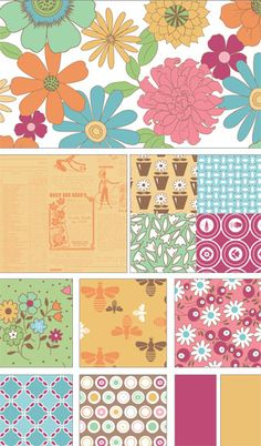 NEW FABRIC LINE: Flower Patch by Lori Holt for Riley Blake Designs