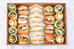 Looking for corporate office catering services in Sydney? Australian award winning Catering Project delivers healthy & tasty foods for events. Sandwich Platter, Sandwich Bar, Party Sandwiches, Catering Platters, Food Platters, Lunch Buffet, Party Finger Foods, Vegetarian Lunch, Cafe Food