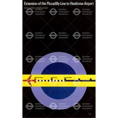 Extension of the Piccadilly line to Heathrow - Tom Eckersley (1971)