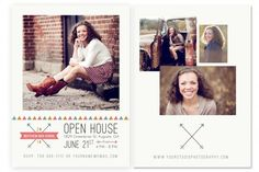 Bohemian Graduation Card Template by Jamie Schultz Designs