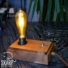 Skarp's Wood Design, No: SD 00601 Handmade, Best Quality Elm Wood, Pure Design Skarp Design - 2018 Edison Lamp, Wood Design, Sd, Light Bulb, Smile, Pure Products, Luxury, Decoration, Amazing