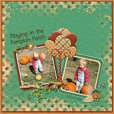 """Playing in the Pumpkin Patch  Credits:   """"Autumn Enchanted"""" Collection AQP3 by Dees-Deelights Font:  DJB Play Misty for Me  Available at:   My Memories Store  - """"Autumn Enchanted"""" Collection Exclusive Quick PageA3 : –  https://www.mymemories.com/store/display_product_page?id=DDDR-QP-1604-106350&r=Dees-Deelights   Available at: My Memories Store: Main Kit - https://www.mymemories.com/store/display_product_page?id=DDDR-CP-1604-105317&r=Dees-Deelights"""