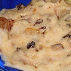 Patates pilées au bacon, aux champignons et à l'oignon @ qc.allrecipes.ca