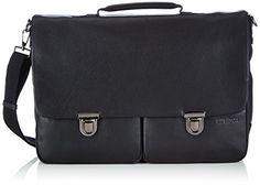 Strellson Garret Briefbag L 4010001437 Herren Henkeltaschen 43x31x13 cm (B x H x T), Schwarz (black 900) - http://herrentaschenkaufen.de/strellson/schwarz-black-900-strellson-garret-briefbag-l-cm-b