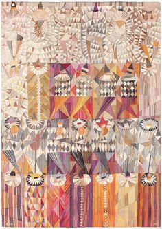 "scandinaviancollectors: ""MARIANNE RICHTER, Karneval (Carnival), Sweden, 1961. Tapestry weave variant, manufactured by Märta Måås-Fjettersröm Ab. Material hand-woven wool. / Pinterest """