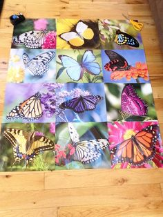 DIY poster from last years calendar great for kids teens dorms and to recycle old calendars use pictures from calendars