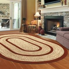Bean S Braided Wool Rug Oval Indoor Rugs At L Area For Bahia Pinterest And Beans