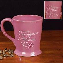 Mug-Courageous Woman<BR> Pink-Footed 12 oz.