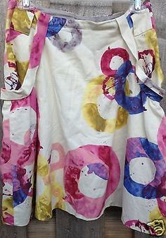 $98 fei ANTHROPOLOGIE Skirt Colorful /Circle O Ring Print 4