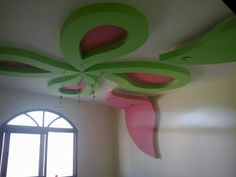 Home Decor: Girls And kids Room gypsum Bouard Decor Drawing Room Ceiling Design, Bedroom False Ceiling Design, False Ceiling Living Room, Kids Bedroom, Kids Rooms, Gypsum, Planter Pots, Ceilings, Girls