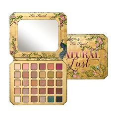 Slip into sexy with the Too Faced Natural Lust Naturally Sexy Eye Shadow Palette. This sexy and sultry collection has 30 never-before-seen lust-worthy natural shades. Too Faced Too Faced Natural Eyes, Sephora, Theobroma Cacao, Too Faced Lidschatten, Makeup Palette, Eyeshadow Palette, Eyeshadow Makeup, Colourpop Eyeshadow, Makeup Brushes
