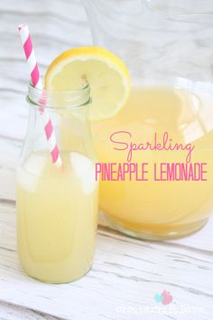 This Sparkling Pineapple Lemonade is sure to be a crowd favorite for years to come! www.createcraftlove.com