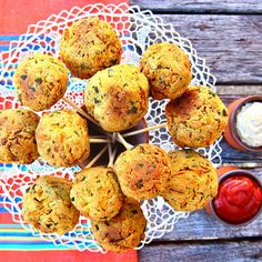 Lollipop falafels, don't mind if do! Super fun snack idea and kids LOVE them dipped in homemade tomato sauce! Recipe on blog! #vegan #vegetarian #falafel #healthy #clean #glutenfree #theaccommodatingchef #paleo #food