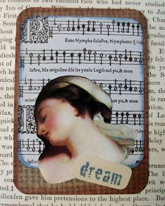 ACEO OOAK ATC collage and ink original art card by PaperPastiche, $7.50