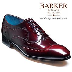 Barker Shoes - Holmes - Oxford Wingtip - Burgundy Cobbler - AW2013 - Available to buy online at http://www.afarleycountryattire.co.uk - #barkershoes #afarleycountryattire #mensshoes #mensfashion #shoes