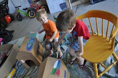 Cardboard Doghouses for Stuffed Animals