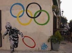 Grafitti behind the Iconic image