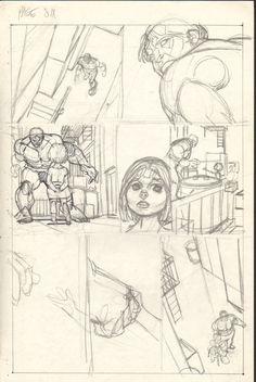 Gil Kane - Defenders Giant Size #2 pg 06 layouts Comic Art